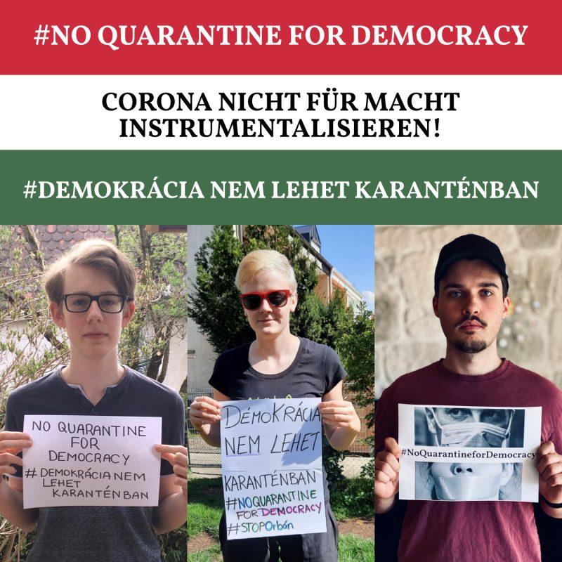 #NoQuarantineForDemocracy
