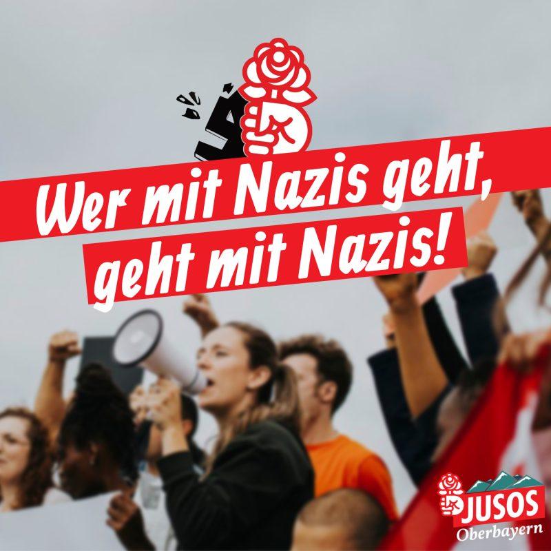 WER MIT NAZIS GEHT, GEHT MIT NAZIS!