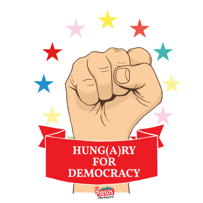 Hung(a)ry for Democracy - rot - sterne farbig